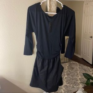 Nordstrom's Theory black shorts romper